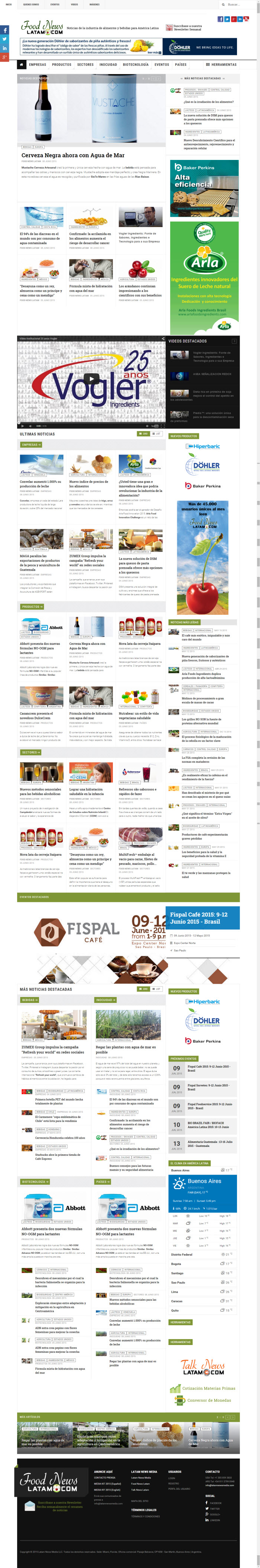 Pagina Nueva Food News Latam