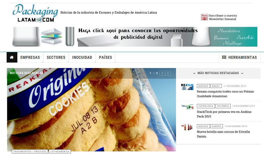 Packagin Latam page
